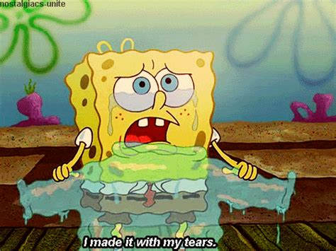 Spongebob Crying Sweater Gifs