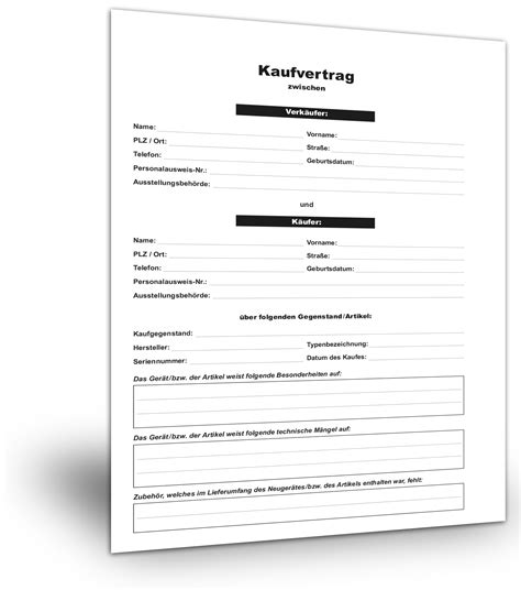 Kaufvertrag Garage Auf Pachtgrundstück by Kaufvertrag Standardvertraege De