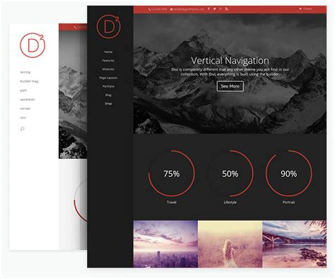 centered navigation bar template divi 2 0 has arrived giving countless possibilities a