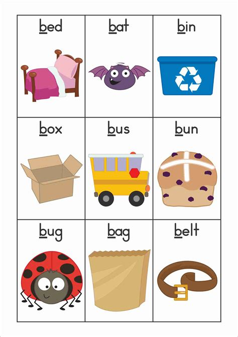 Free Phonics Letter Of The Week B Vocabulary Or Word Wall Cards  My Tpt Products Pinterest