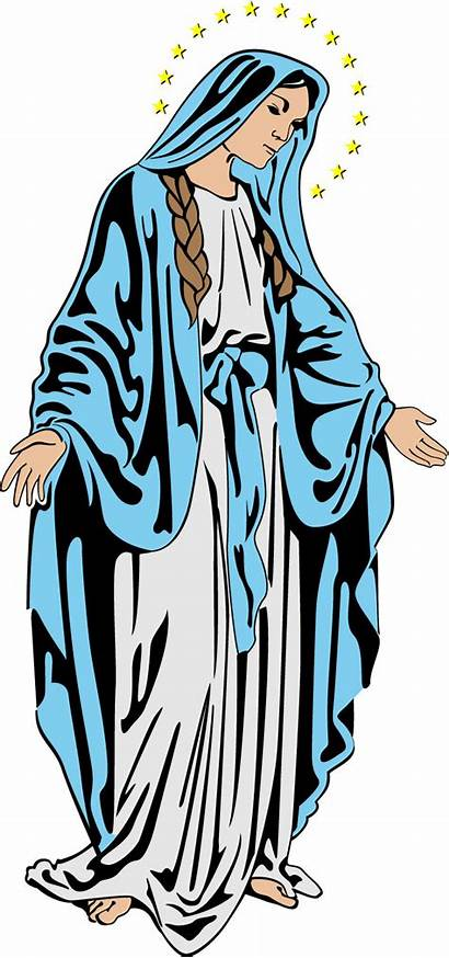 Mary Clipart Blessed Clip Mother Virgin Holy