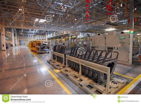 Modern Car Factory by Car Production Line Stock Image Image 32707271