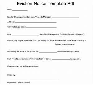 sample eviction notice template pdf excelaboutcom With sample letter of eviction notice free
