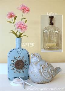 Easy, DIY Chalk Painted Bottles (w/Oil Rubbed Bronze