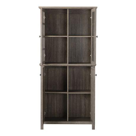 storage cabinets walmart canada homestar 2 door glass storage cabinet in reclaimed wood