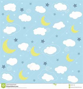 Seamless baby pattern wallpaper stock photo image