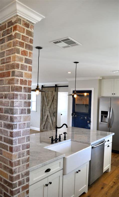 gray kitchen cabinets ideas best 25 brick accent walls ideas on kitchen