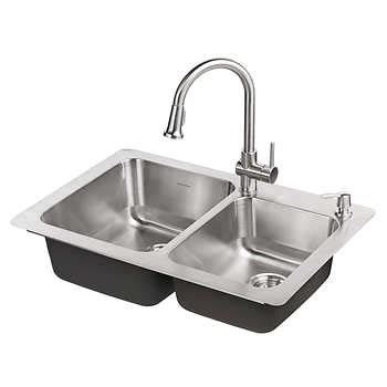 kitchen faucet and sink combo faucets costco 8061