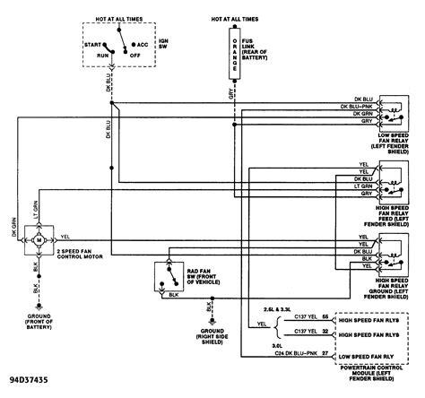 Fan Motor Diagram Dodge Caravan Need