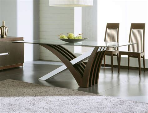 contemporary  modern dining tables wooden chair glass