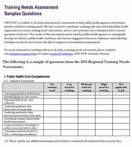 14 sample training needs assessment templates sample With needs assessment proposal template