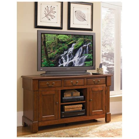 Tv Credenza by Home Styles 174 The Aspen Collection Rustic Cherry Tv