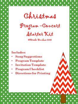 christmas program template concert program kit by dunham tpt