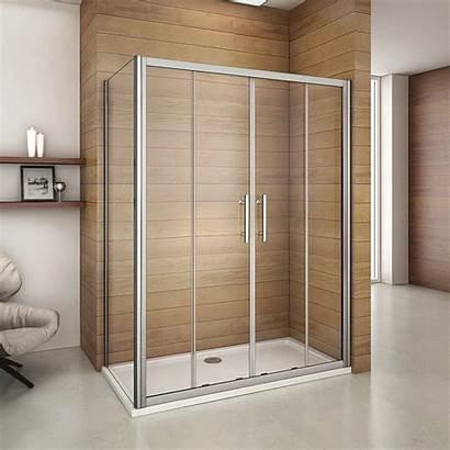 Shower Door Sliding Double Cubicle Glass Luxury