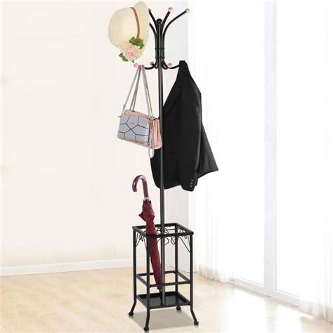 yaheetech metal coat rack umbrella stand holder vintage hat jakcet metal tree  hooks