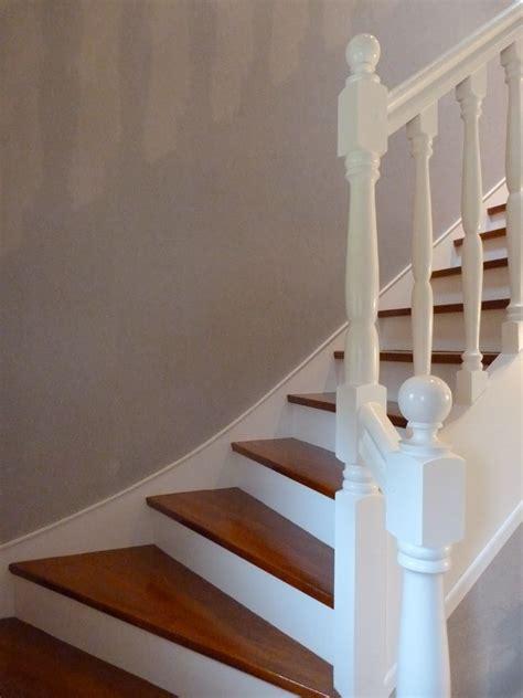 escalier repeint en blanc idee deco escalier peinture