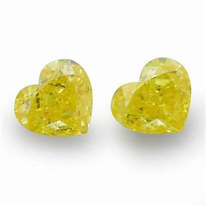 Yellow Vivid Fancy Diamonds Heart Shape Carat