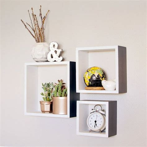 Square Shelves by Square Shelves Set Of 3 Wood Shelves By