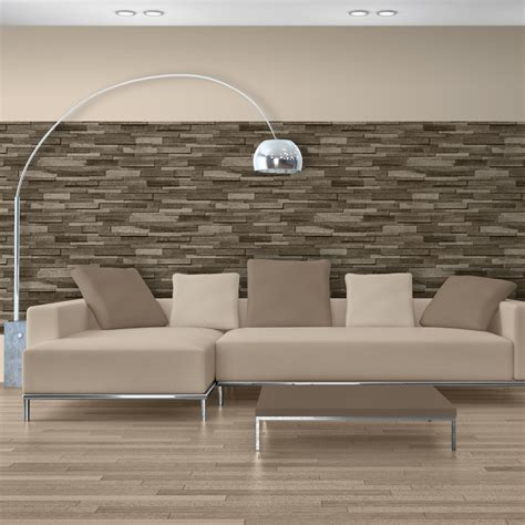 Mural Wallpaper Wooden Slate Murivamuriva