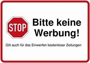 Briefkasten Keine Werbung : schilder selbst gestalten und drucken ~ Orissabook.com Haus und Dekorationen