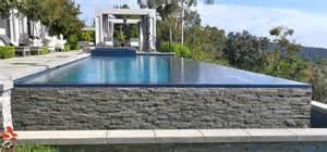 custom home designer beverly vanishing edge pool design with custom tile by pools los angeles