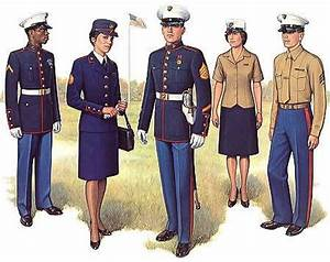 The Marine Corps dress blue uniform is the most recognized ...