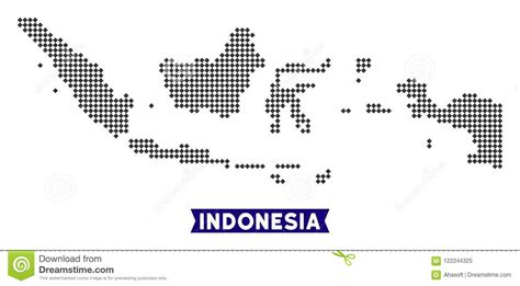 dotted indonesia map stock vector illustration