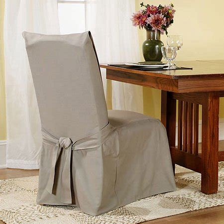fit cotton duck dining chair slipcover walmartcom