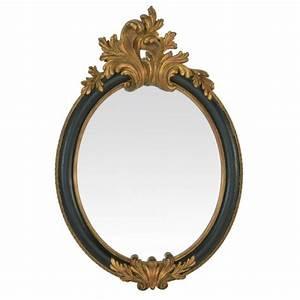 Miroir Baroque Noir : miroir ancien noir ~ Teatrodelosmanantiales.com Idées de Décoration