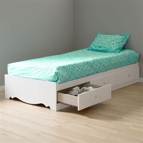 amazoncom crystal collection twin storage bed pure white