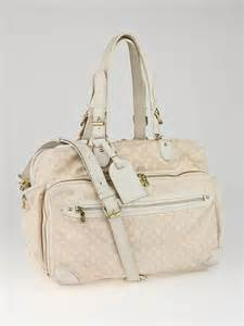 louis vuitton pink monogram mini lin diaper bag yoogis