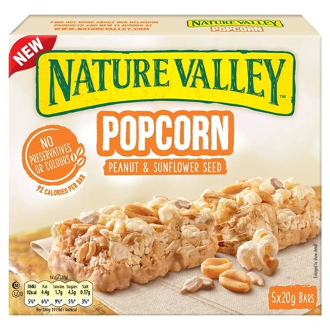 nature valley granola bar nutrition facts label