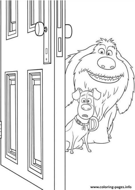 duke  max open  door secret life  pets coloring