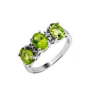 peridot wedding rings three 2 5 carat peridot gemstone engagement ring on silver jewelocean