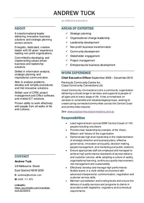 Innovative Business Resumes by Resume Andrew Tuck 2016v04