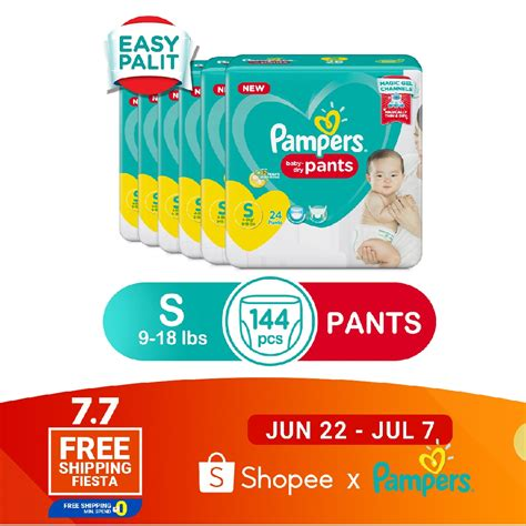 Pampers Baby Dry Diaper Pants Small 24s X 6 Packs Shopee