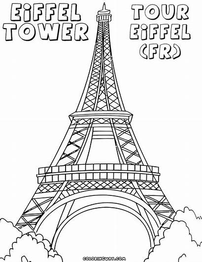Eiffel Tower Coloring Pages Paris Drawing Water