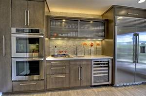 Kitchen Bar Cabinet Contemporary With Beverage Cooler