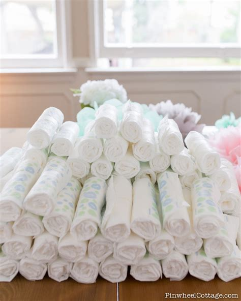 diy diaper cake tower   baby shower loganberry handmade