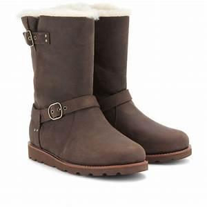 Ugg Boots : lyst ugg noira shearlinglined brushedleather boots in black ~ Eleganceandgraceweddings.com Haus und Dekorationen