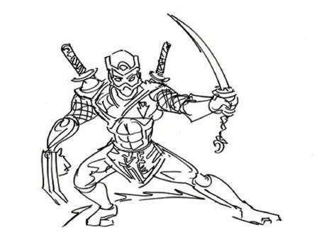 ninja coloring disney coloring pages