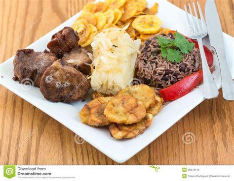 cuisine cubaine traditionnelle image libre de droits