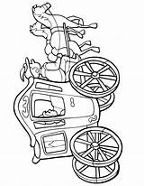 Carriage Coloring Horse Pages Princess Cinderella Wagon Horses Drawing Pioneer Drawn Covered Rearing Clipart Cliparts Clip Printable Printactivities Pulling Print sketch template