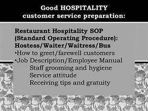 Restaurant Waiter Service Sop