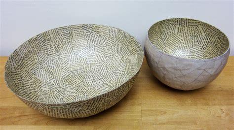 paper mache printing with gelli arts 174 paper mache bowls with gelli