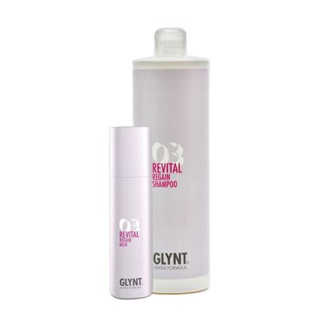 Glynt Revital Regain 3 Set (Shampoo 1000ml + Milk 200ml)