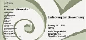 Einladung Zur Einweihung : so einweihung des trauerorts trauerort d sseldorf ~ Lizthompson.info Haus und Dekorationen
