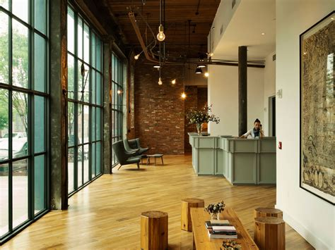 explore the chic industrial modern lobby of wythe hotel by workstead design klout