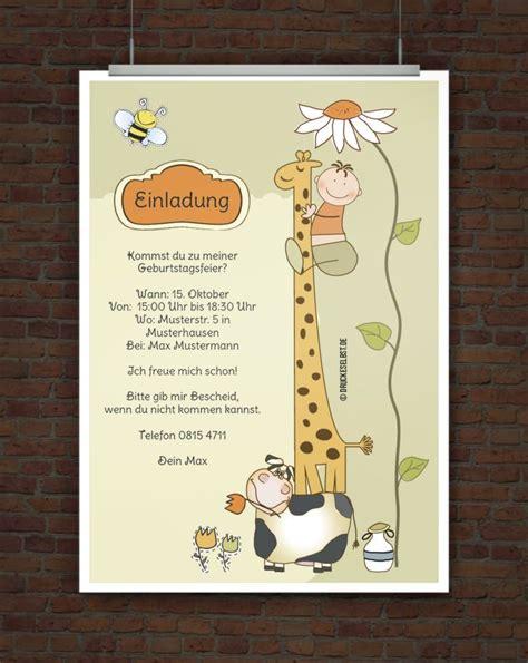 drucke selbst kostenlose einladung kindergeburtstag
