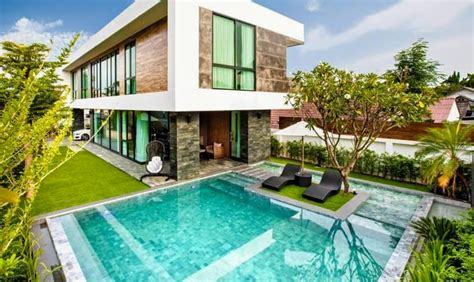 beautiful modern  story  bedroom house  designer pool thai northern properties